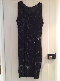 Black short evening dress