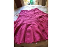 Per una pink linen skirt size 12 lovely cool skirt for the summer