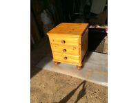 Antique pine bedside cabinet