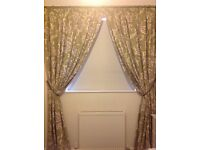 Next curtains with antique gold pole