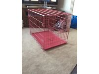 Folding pink cage