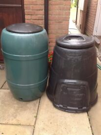 Two large composting bins.
