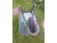 Sturdy metal wheelbarrow
