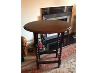 Antique barley twist leg table