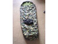 Lichfield midi trail children's sleeping bag camouflage green