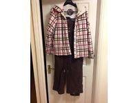 Roxy ski/ boarding jacket and trousers, about size 14.