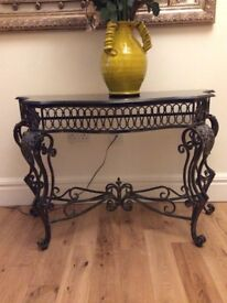 Black hall Table with Granite top