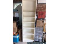 Tall cream bookcase