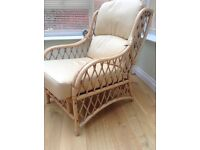 Cane Conservatory chairs - two