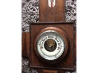 Barometer and thermometer oak wall hanging for sale  Torquay, Devon