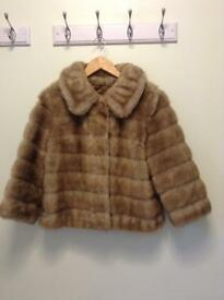 VIntage Faux fir ladies jacket