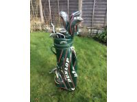 GOLF CLUBS (LEFT HANDED) - Full set with bag.