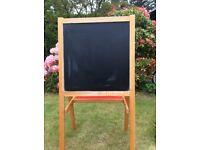 Child's wooden black & white board