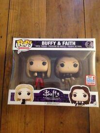 Funko pop vinyl figures Buffy and Faith
