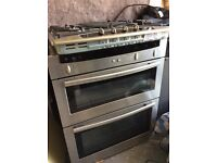 Neff electric double oven with gas hob