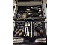 SBS Bestecke Solingen 23/24 Karat Gold Plated 70pc Cutlery Set