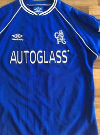 Signed Chelsea shirt worn by Denis Wise