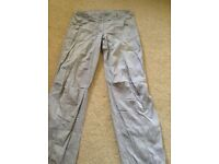Women's Grey Cargo Pants