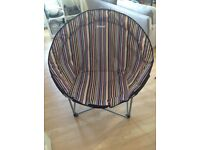 XL colourful moon chair