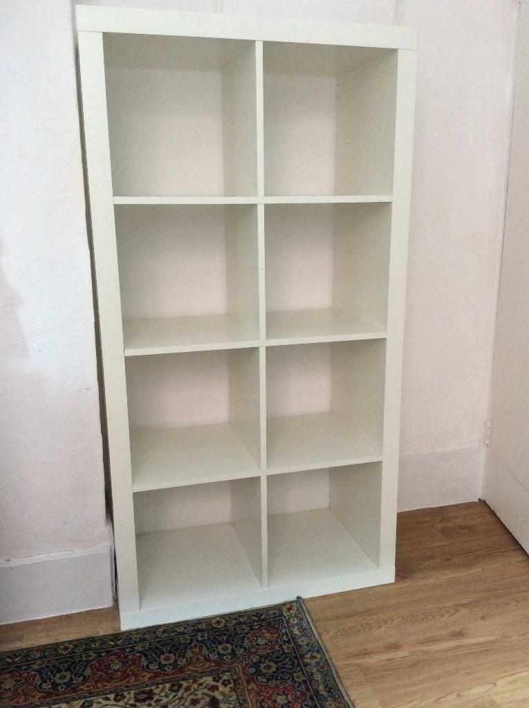 Ikea expedit kallax white 8 box shelf storage unit room for Ikea box shelf unit
