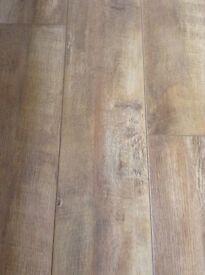 Laminate flooring, barn oak design
