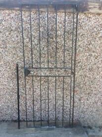 Solid steel security gate with key