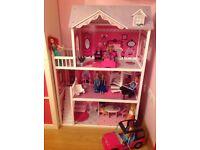 Dolls House + Dolls + Car + Accessories