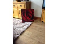 Canvas Red Rose Picture