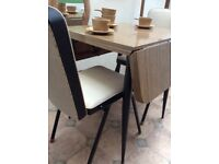 Retro, vintage Formica table and 2 chairs