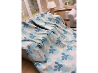 **DUCK EGG LEAF LINED CURTAINS**