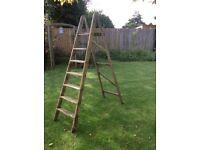 Vintage Wooden Step Ladder for up cycling Shelf Unit Display