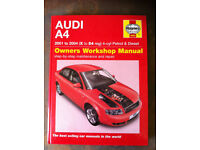 Haynes Workshop Manual For Audi A4 01-04