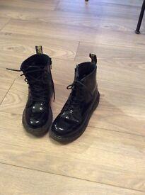 Dr Martin black patient boots size 1