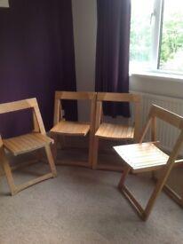 Folding chairs,