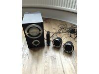 2 Sony PC speakers and sub