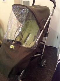 Mamas and papas pram / buggy with rain cover, in good condition .