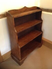 Book cabinet with antique finish. Lovely order shelves get smaller towards top