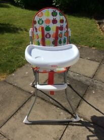 Baby High Chair-ALMOST GOOD AS NEW