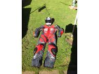 Proto leathers + Arai crash helmet