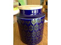 "Large 8"" Retro Hornsea Sugar Jar"