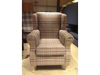 Brand new check wing chairs