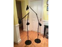 Two black lamps like new