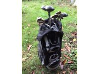Full set of right handed clubs and bag