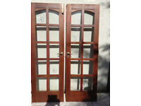 Doors - solid wood french doors with glazed panels