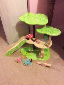 Wooden fairy treehouse