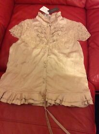 Size 12 gold blouse