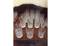 Beautiful vintage hand cut lead crystal glasses, same design