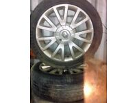 Renault Clio alloy wheels and tyres