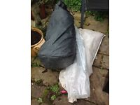 Old style 6 man tent. Only suitable for spares or maybe charity gazebo?