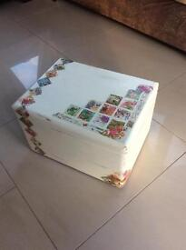 Storage box, decoupage hand painted